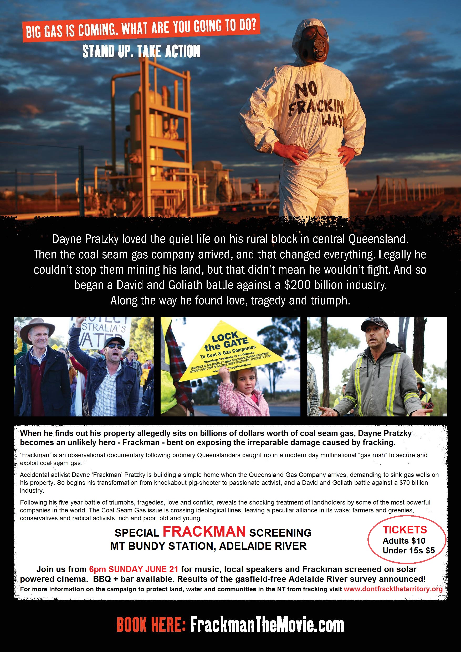Frackman screening Adelaide River
