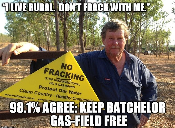 New survey reveals: Bachelor residents oppose fracking, 98% agree to keep Coomalie gasfield free