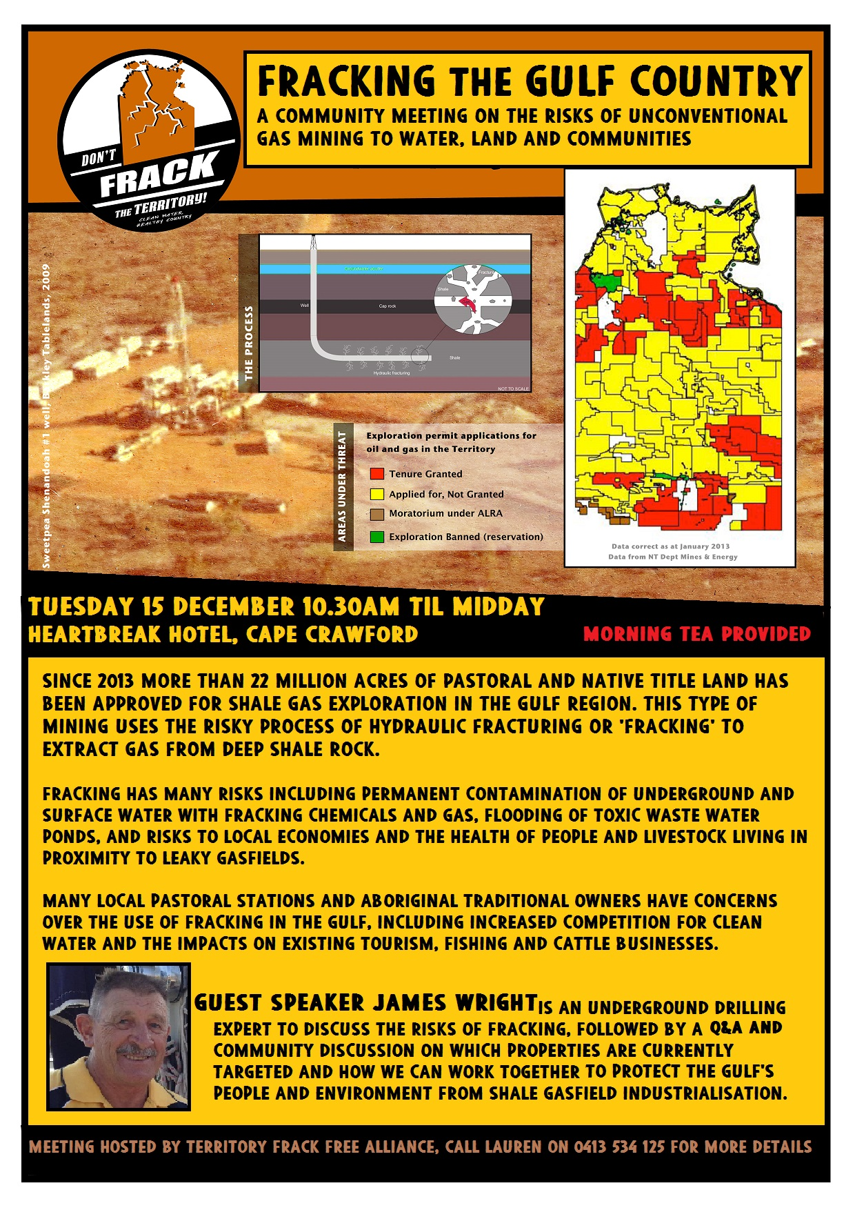 Gulf region fracking meeting flyer