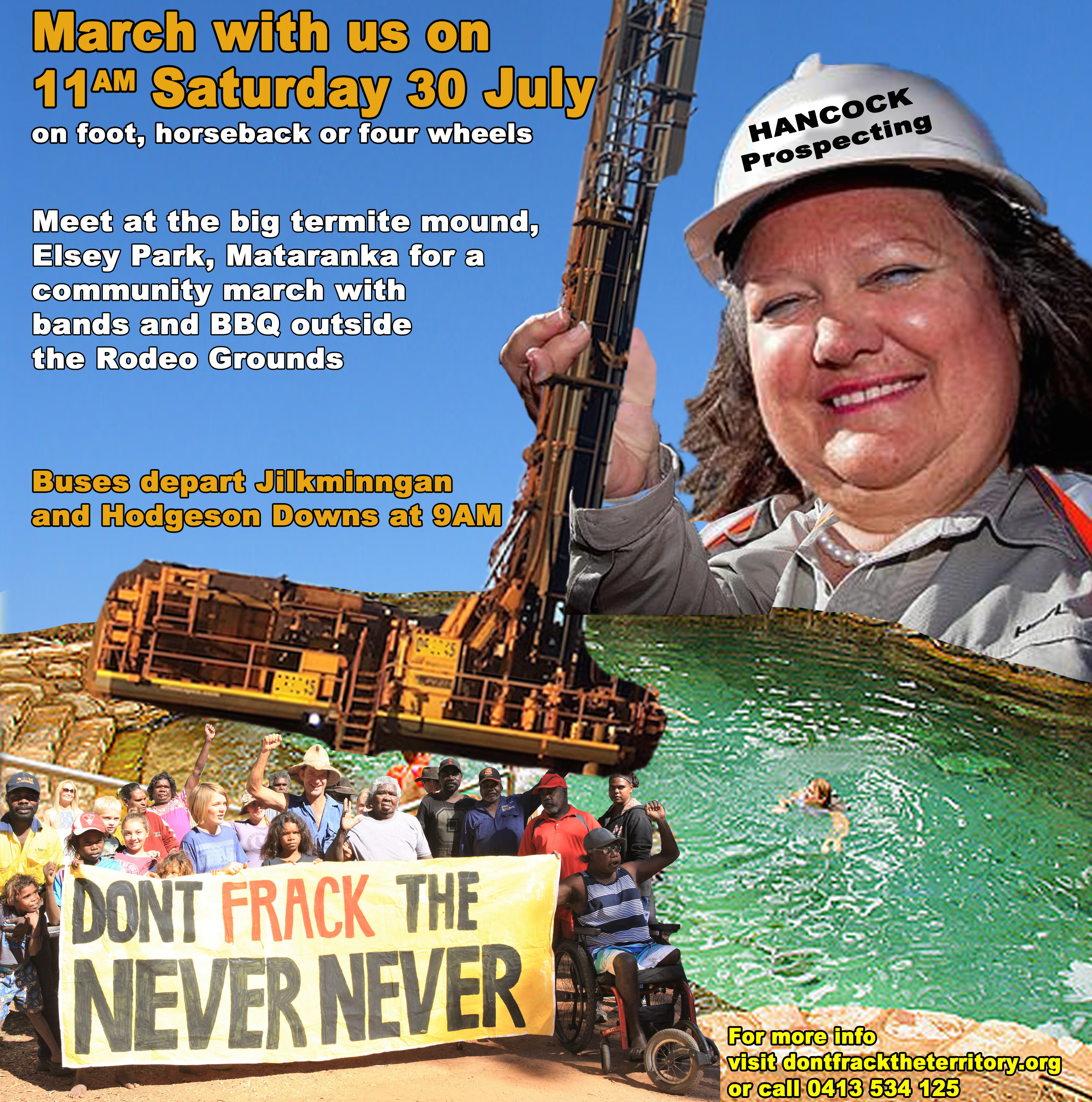 Don't Frack the Never Never – Rodeo event!
