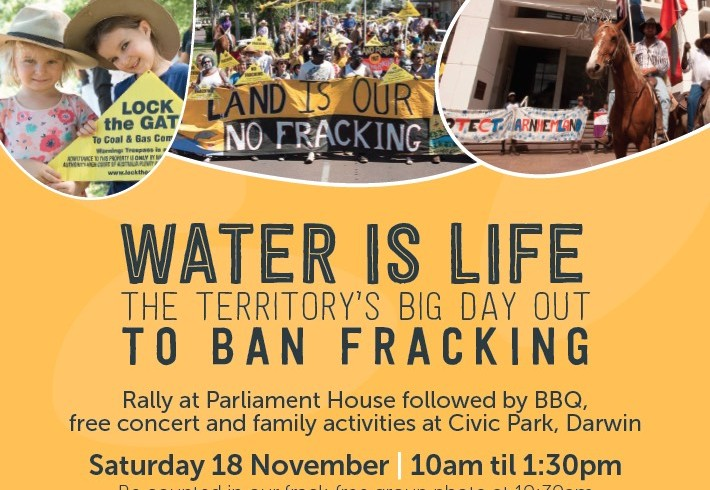 Water is Life: Territory big day out to ban fracking